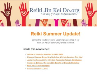 Reiki Jin Kei Do summer newsletter