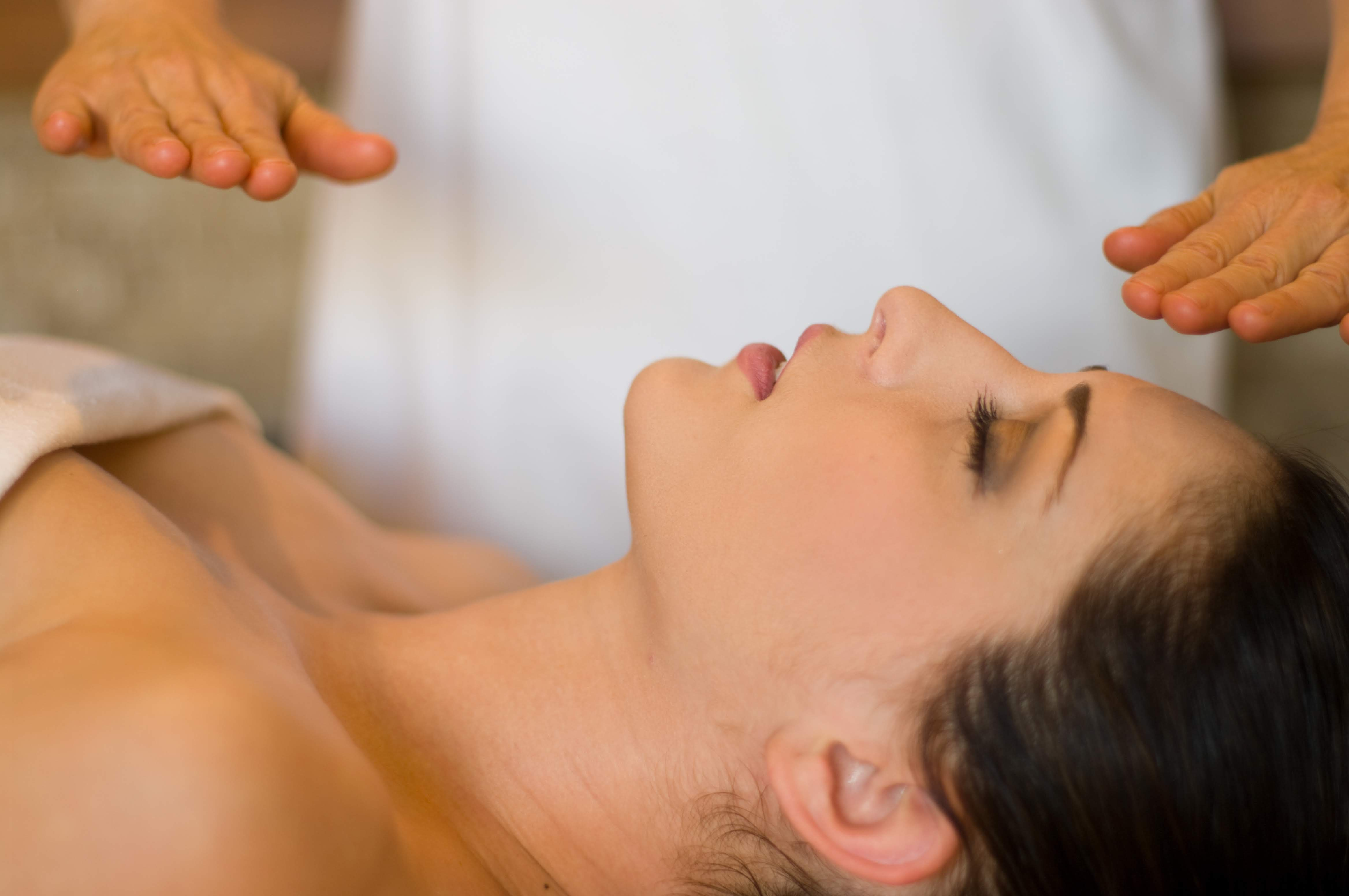 Person receiving Reiki