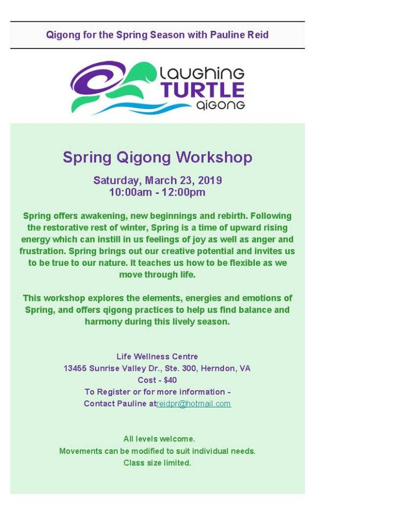 Pauline Reid's Spring Qigong Workshop